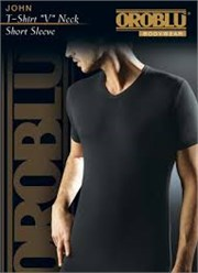 OROBLU John T-Shirt V Neck Short Sleeve